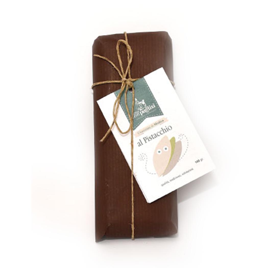 Tavoletta Cioccolata Modicana al Pistacchio da 100Gr.
