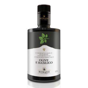 Olio di olive e basilico