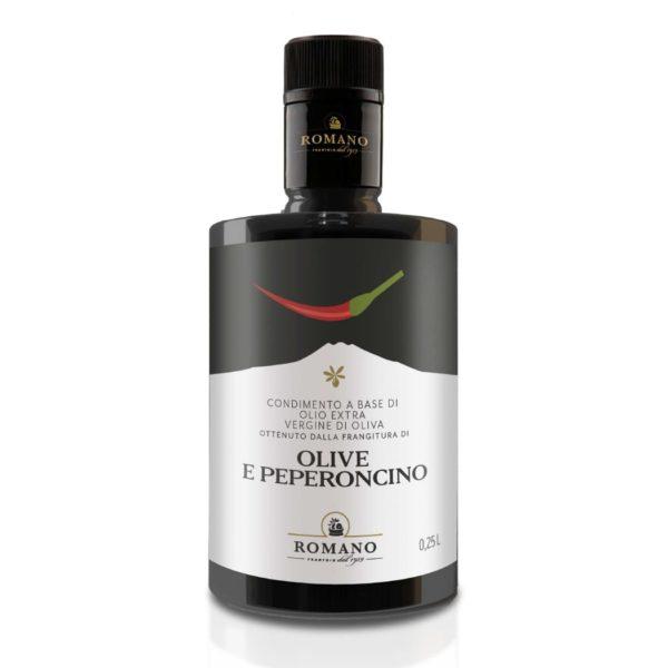 Olio di olive e peperoncino